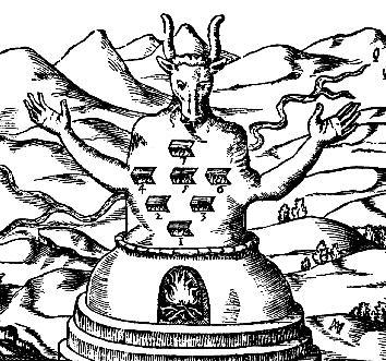 Athanasius Kircher – Moloch and his Seven Palaces